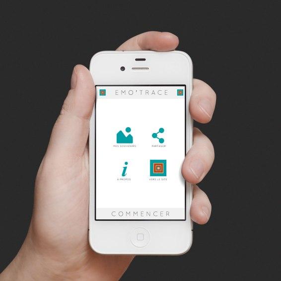 Ecran d'accueil de l'application